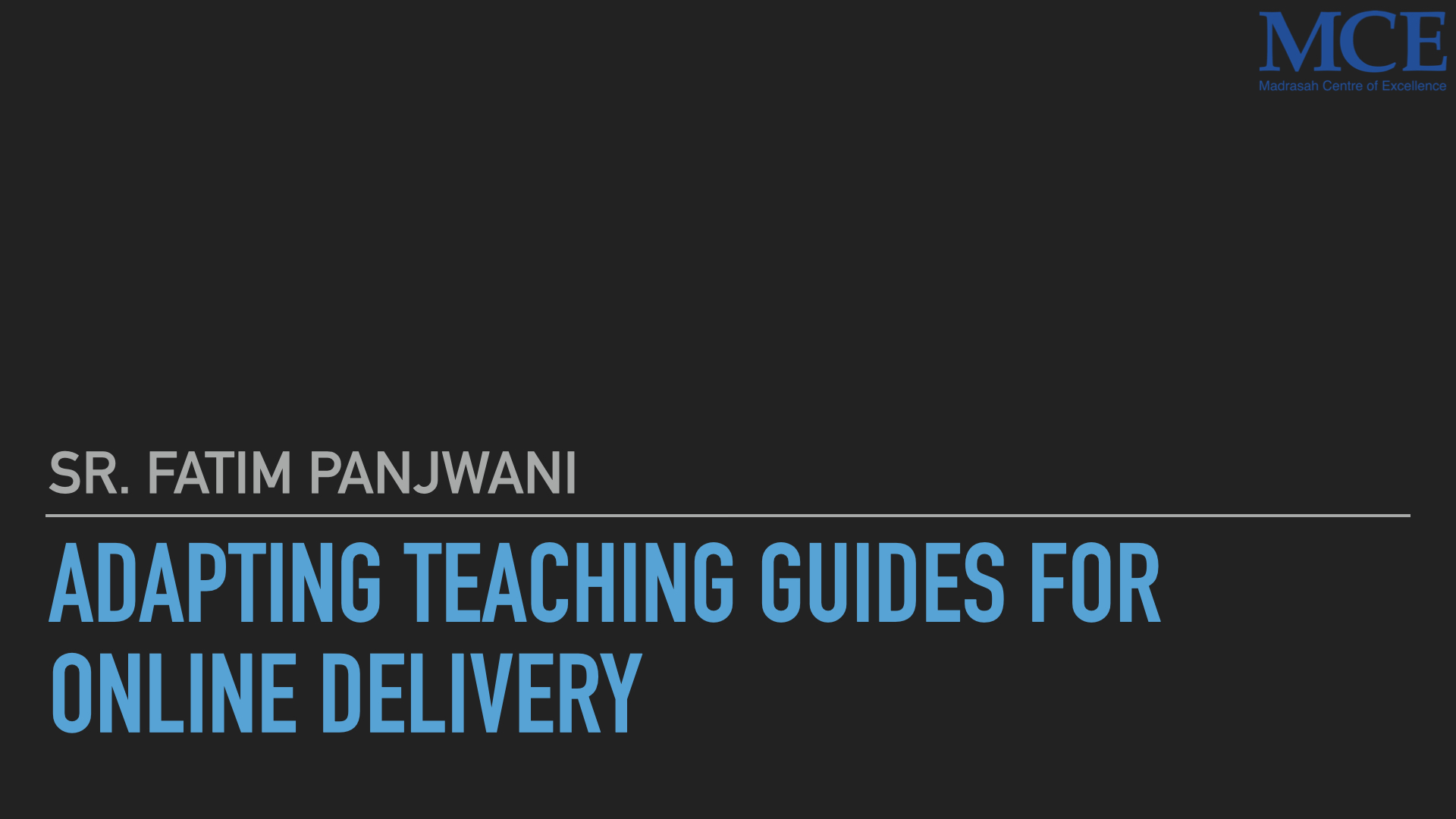 Adapting Teacher guides for online delivery